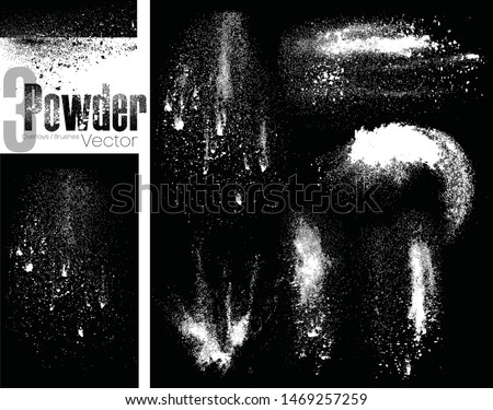 Powder brushes and overlays vector Royalty-Free Stock Photo #1469257259