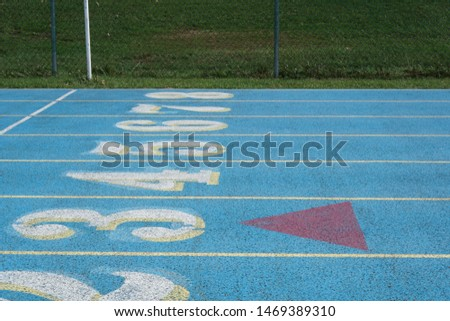 Track starting line and finish line #1469389310