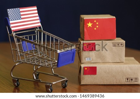 Trump's threat of new China tariffs. China-U.S. trade talks. More American tariffs on Chinese imports. US-China trade. United States Imports from China. Duty, customs fee, customs tax, customs payment #1469389436