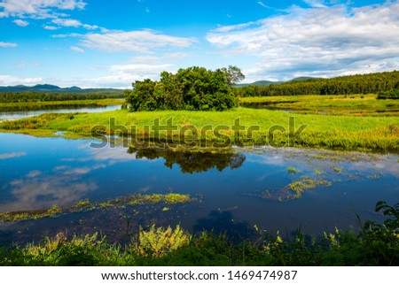Beautiful lake view in Maepuem National Park, Phayao province. #1469474987