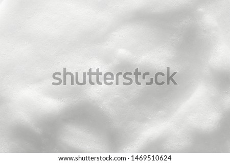 Foam texture background. Cosmetic soap, cleanser, shampoo bubbles. Macro, top view #1469510624