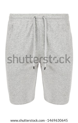 Shorts isolated on a white background, grey shorts #1469630645