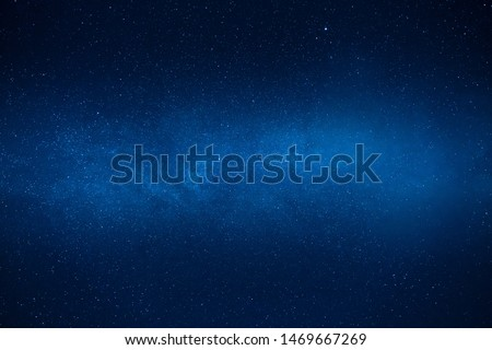 Night sky with views of stars and galaxies.