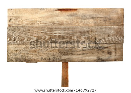 sign of wood