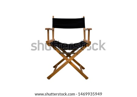 Director chair isolated on white background - clipping paths. #1469935949