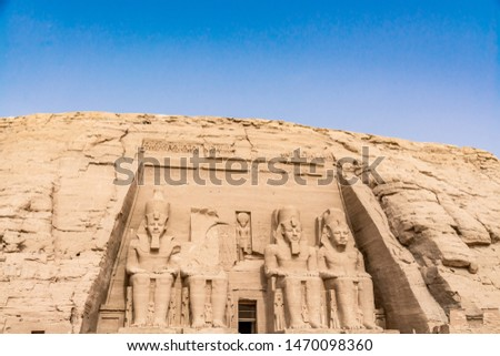 Abu Simbel temple, amazing temple built by Ramesses (Ramses II) the Great, Egypt #1470098360