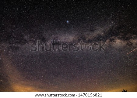 A full arc of the Milky Way Galaxy visible #1470156821