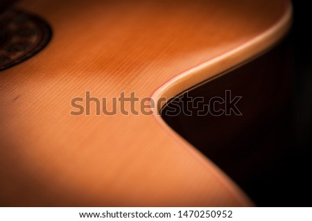 the curves of the guitar #1470250952