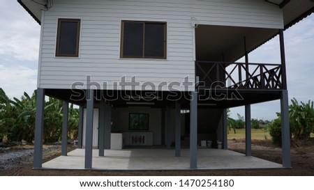 Ayutthaya,Thailand -August 3, 2019 Garden house style Thai  #1470254180
