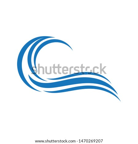Water Wave symbol and icon Logo Template vector #1470269207
