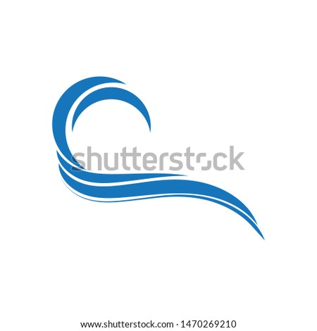 Water Wave symbol and icon Logo Template vector #1470269210