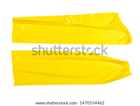 Set of yellow tapes on white background #1470554462