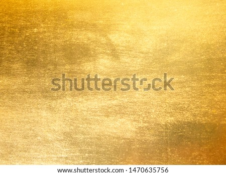 Shiny yellow leaf gold foil texture background #1470635756