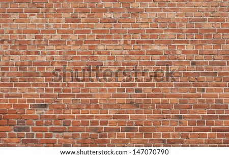 Background of old vintage brick wall Royalty-Free Stock Photo #147070790