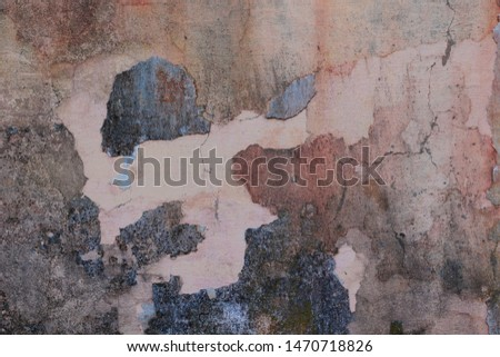 Abstract amasing dusty rose background with dark stained,  rough, grainy backdrop. Art powder uneven stylized texture banner with space for text #1470718826