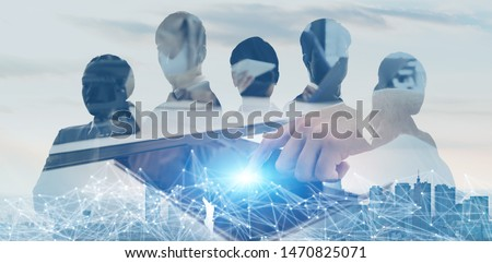 Business network concept. Group of businessperson. #1470825071