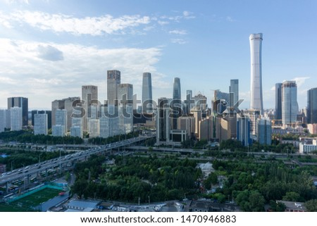 Beijing Skyline,Abstract view of buildings
