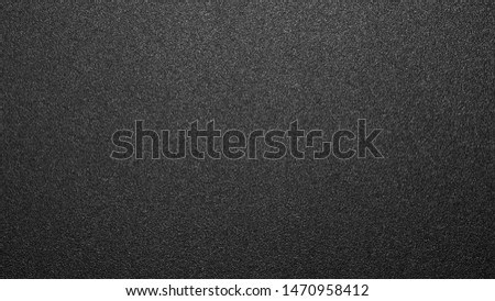 Texture of black matte plastic.Black and white matte background.The background is black rough plastic. #1470958412
