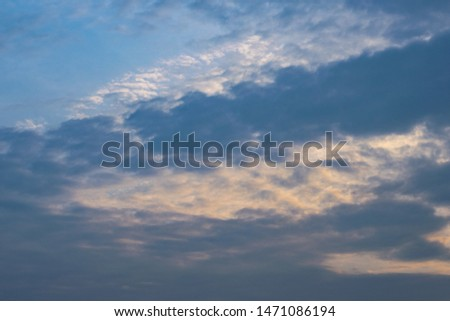 Separated clouds during sunrise in the sky. #1471086194