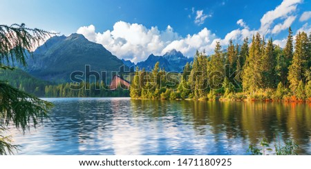Strbske pleso (Strbske lake) - beautiful mountain lake in High Tatras mountains national park, Slovakia #1471180925