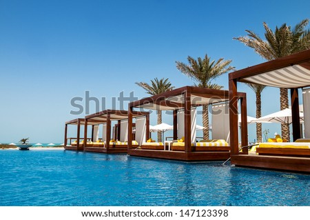 luxury place resort and spa for vacations Royalty-Free Stock Photo #147123398