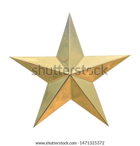 Golden Christmas Star isolated on white Background #1471325372