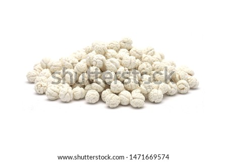 pile of white sweet chickpea with on a white background #1471669574