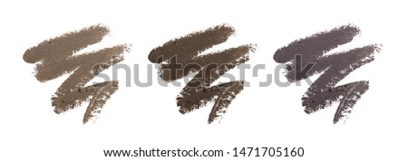 Eyebrow liquid. Color palette. Brow mascara. Eyebrow pencil . Isolated on white background. Royalty-Free Stock Photo #1471705160