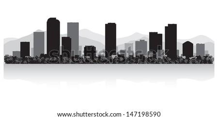 Denver USA city skyline silhouette vector illustration