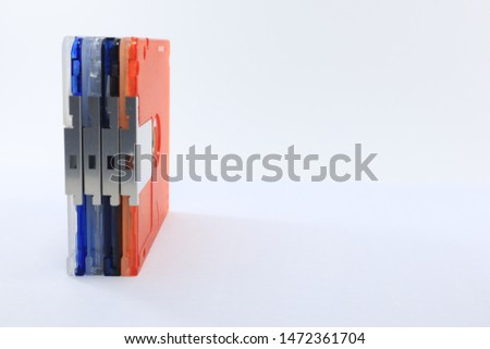 mini disc for data and music record with white background, Bangkok