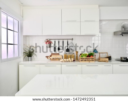 Clean white kitchen  Saw and wanted to cook #1472492351
