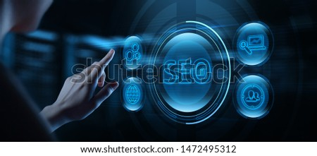 SEO Search Engine Optimization Marketing Ranking Traffic Website Internet Business Technology Concept #1472495312