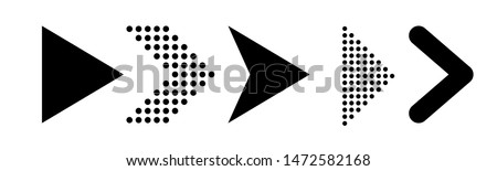 Set of new style black vector arrows isolated on white. Arrow icon. Arrow vector icon. Arrow. Arrows vector illustration collection #1472582168