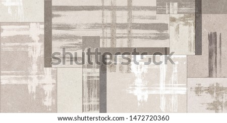 digital colorful wall tile design for washroom and kitchen, Grey cement texture with watercolor design wall tiles surface.Colorful vintage ceramic tiles wall decoration #1472720360