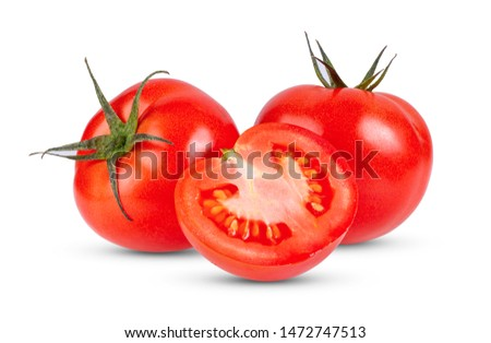 Tomato isolated full depth of field on white background #1472747513