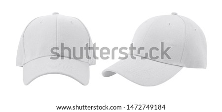 White baseball cap isolated on white background. #1472749184