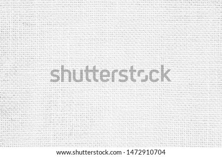 White abstract cotton towel fabric. Wallpaper of artistic wale linen canvas. Blanket or Curtain of pattern and copy space for text. Interior design. #1472910704