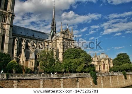 Notre Dame de Paris, famous cathedral  #1473202781