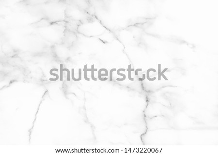 White marble texture with natural pattern for background or design art work. #1473220067