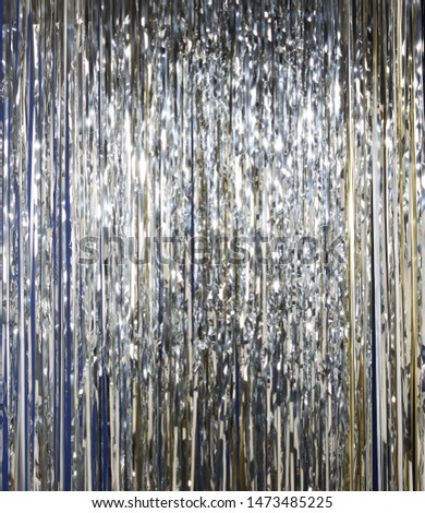 Silver  holographic tinsel line background #1473485225