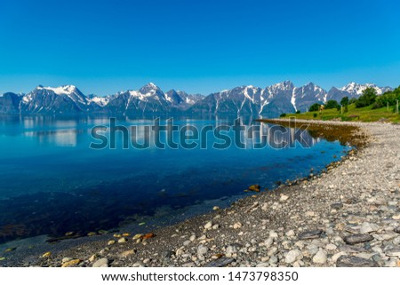 Rocks of the Sognefjord, the third longest fjord in the world and largest in Norway. #1473798350