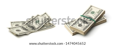 money isolated on a white Royalty-Free Stock Photo #1474045652