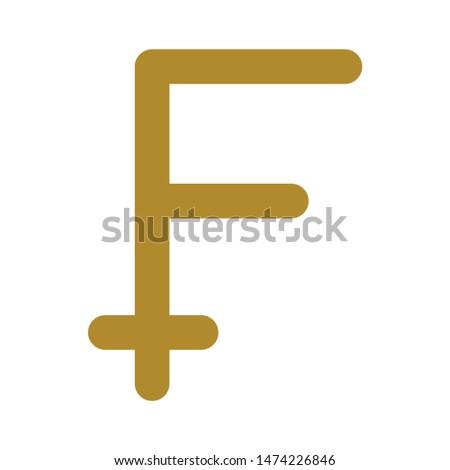 franc symbol icon. flat illustration of franc symbol vector icon. franc symbol sign symbol #1474226846