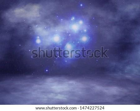 Night Sky Background Studio Portrait Backdrops #1474227524