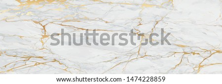 Luxury Gold Marble texture background vector. Panoramic Marbling texture design for Banner, invitation, wallpaper, headers, website, print ads, packaging design template. #1474228859