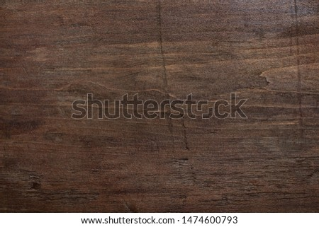 Dark brown wooden background. Scratched wooden wall. Shabby wood texture. #1474600793