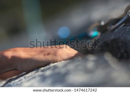 Climbing, climbing equipment, grip, draw, rope, mountain, mountaineering #1474617242