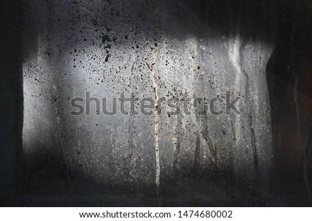 Plaster splattered on a plastic tarp #1474680002