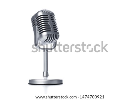 Retro microphone isolated on white background #1474700921