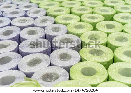 Rolls of wallpaper. Background and texture of wallpaper for walls. #1474728284